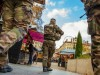 Lyon / France / November 26, 2015. The Christmas Market in Lyon in 2015 has opened place carnot under high protection with police men and military from the operation sentinel/KONRADK_121608/Credit:KONRAD K./SIPA/1511261227