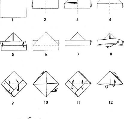 pliage-diagramme-bateau-origami-papier
