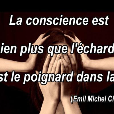 La conscience est bien plus que l'écharde, elle est le poignard dans la chair.